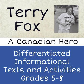 This small bundle includes my two biographical resources about Terry Fox: each one includes a two-part text about the life of this Canadian icon. There are several activities accompanying each one. By buying the bundle you save some money and have differentiated passages and activities for