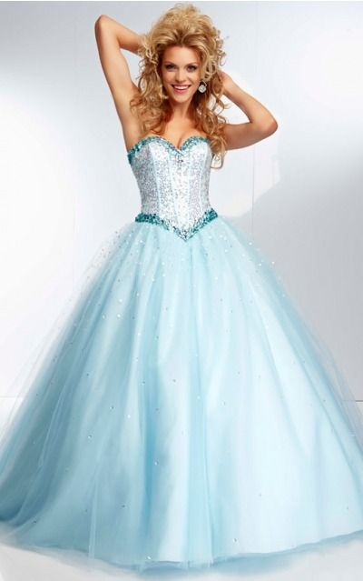 Sleeveless Sweetheart Lace-up Tulle Floor-length Formal Dresses zyh195