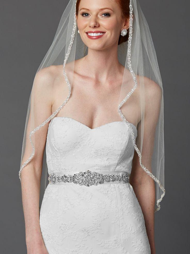 Crystal bejeweled bridal sash belt wedding dress long
