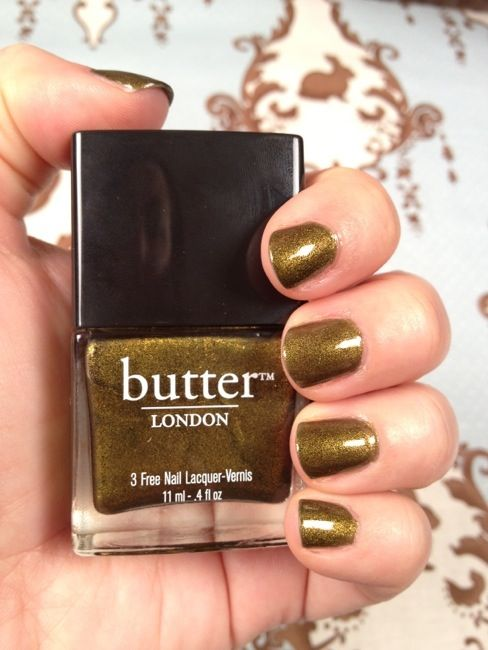 Normally butter londons nail polish colours are GORGEOUS but my cat literally puked something this color today. Not good butter london, not good at all. -bleh-