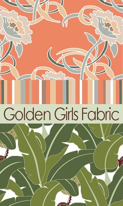 Best Fabric And Wallpaper To Match The Golden Girls Couch And 400 x 300