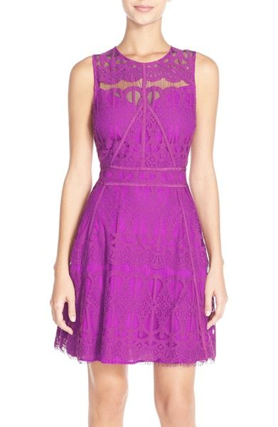 Would love to own a lace dress that fits- Adelyn Rae Illusion Yoke Lace Fit & Flare Dress