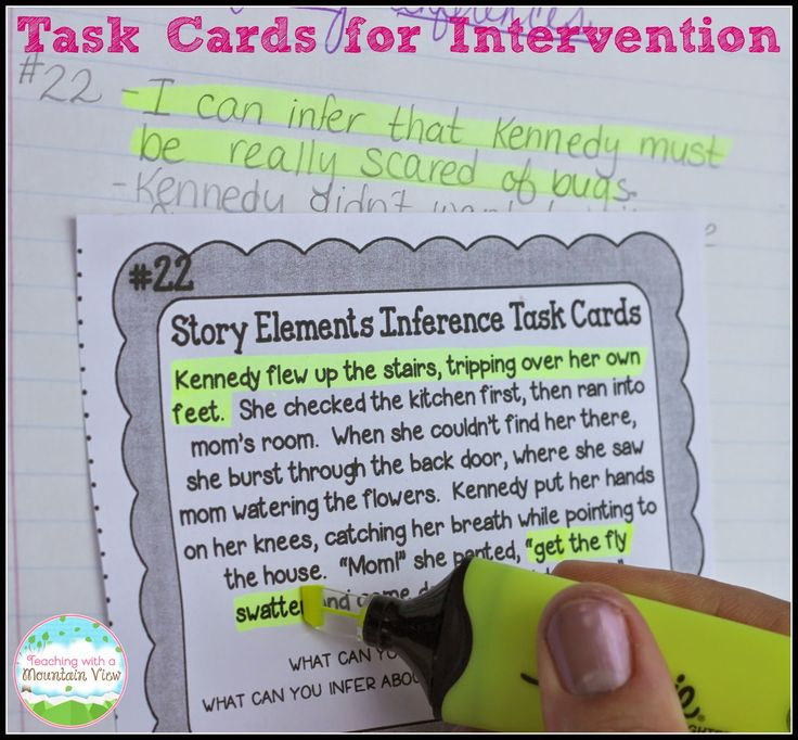 """Advanced Reading Intervention Plans. How I use task cards to meet the needs of all learners...even the """"advanced"""" ones."""
