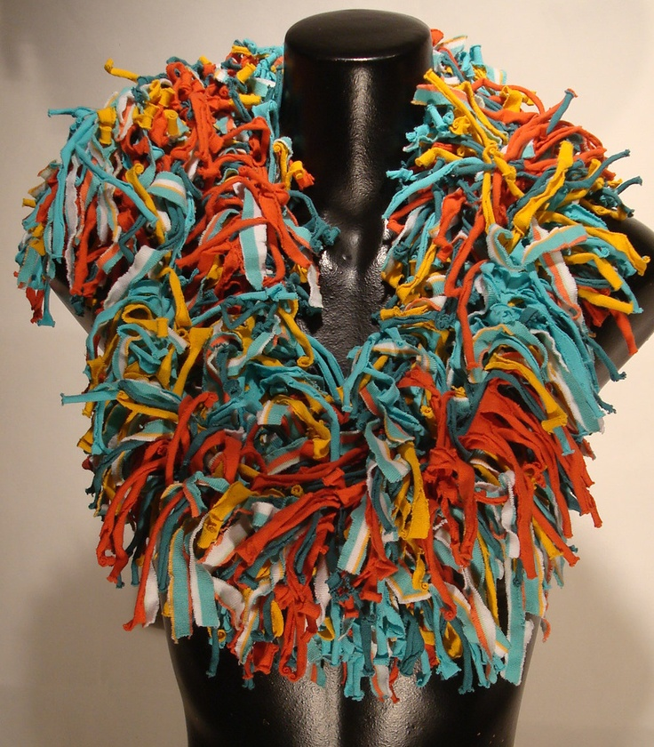 How about turning those old tees into a fun boa scarf!