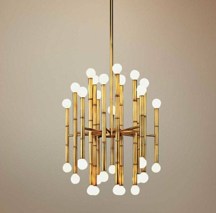 Entry way lighting jonathan adler meurice collection brass chandelier