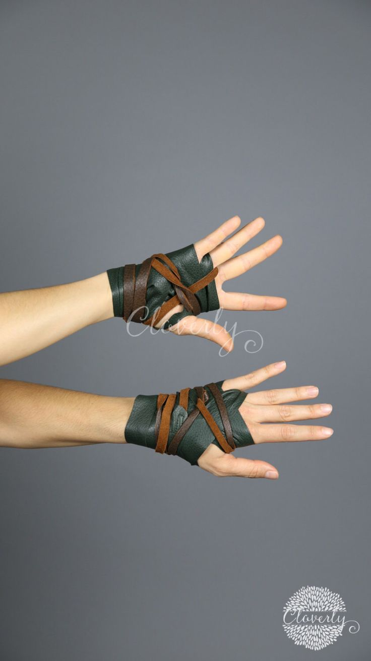 Fingerless gloves edmonton - Leather Hand Wraps Barbarian Costume Larp Steampunk Daenerys Fingerless Glove Mad Max Game Of Thrones