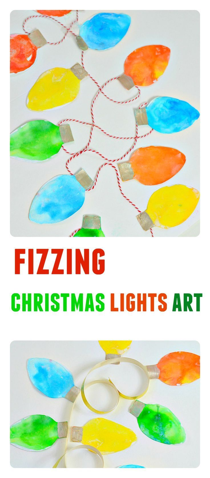 Combine science and art and create the kids can create this gorgeous Christmas lights garland.