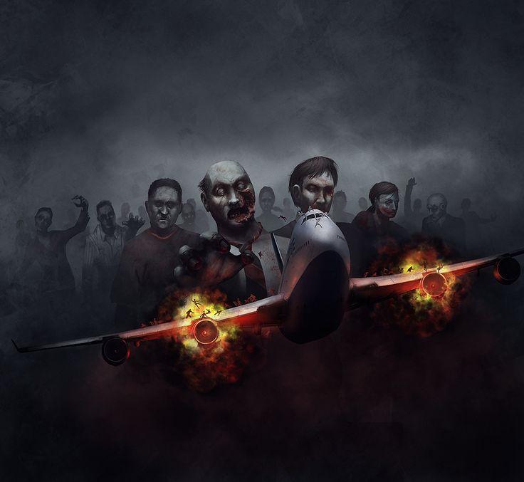 Zombies on a Plane by adamdawidowicz.deviantart.com on @deviantART