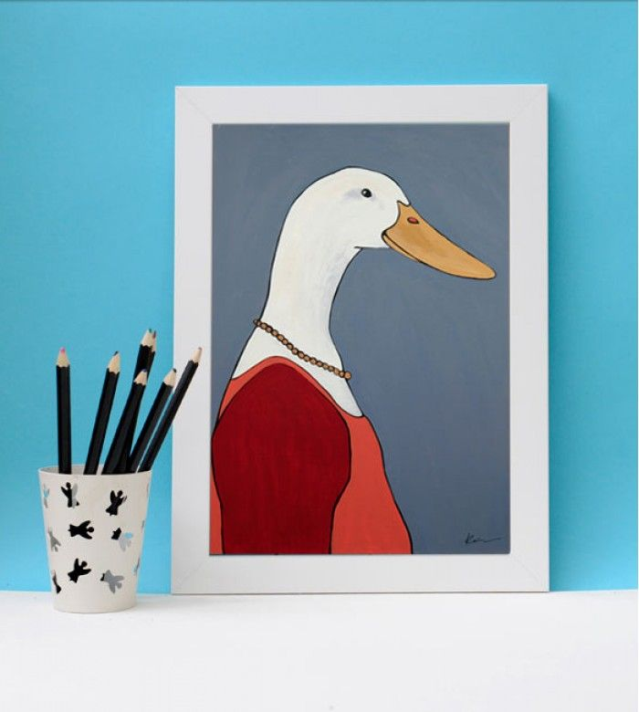 Постер с изображением сказочной утки сделает мир ребёнка ярким и уютным, и добавит прелести детской комнате.