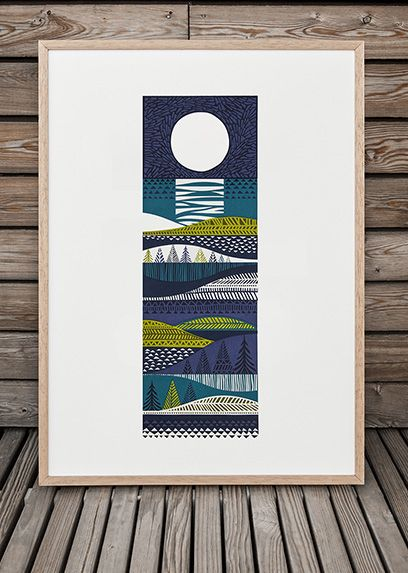 "Still lusting after a gorgeous print by talented screenprinter Sanna Annukka - ""Kainuu"""