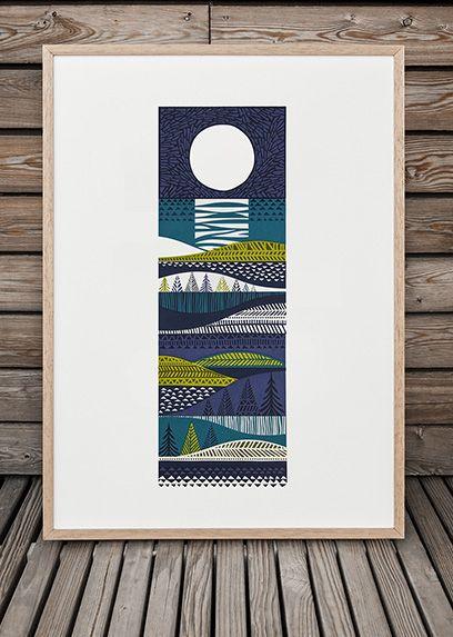 "Still lusting after a gorgeous print by talented screenprinter Sanna Annukka - ""Kainuu"""