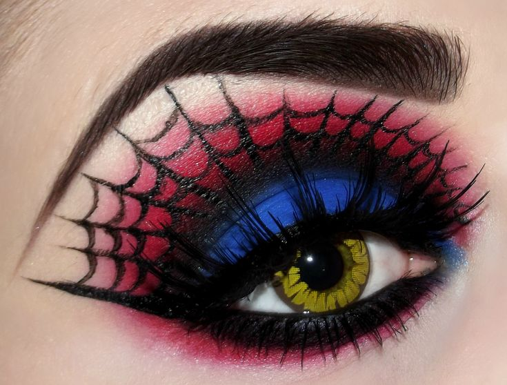 #Goth spider web make-up, very detailed