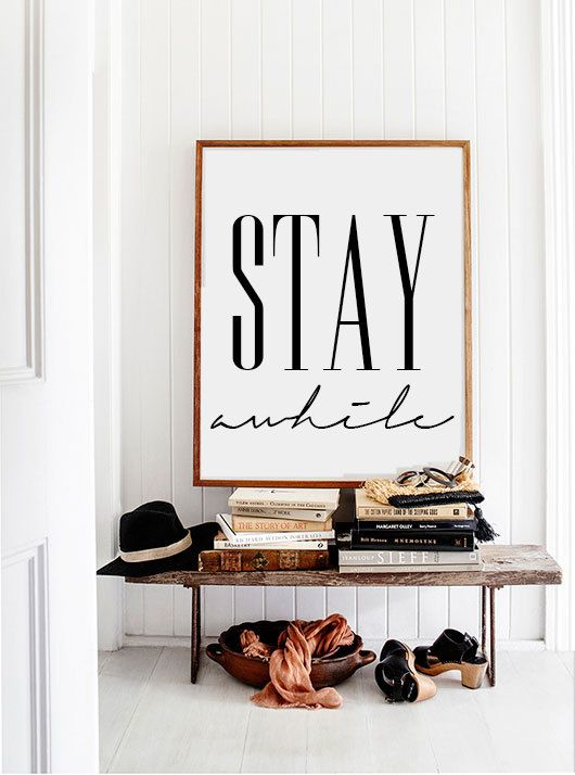 "WORDS | ""Stay Awhile"" poster"