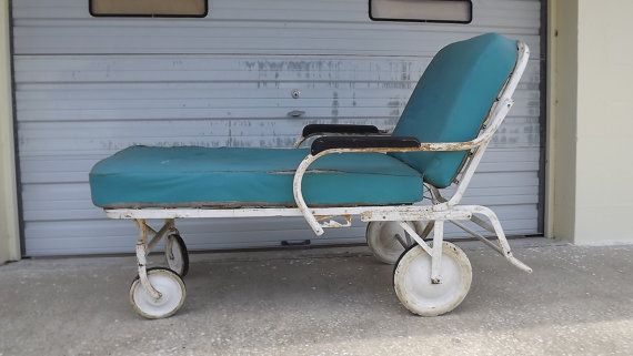 Raserved For Sabine Antique Chaise Lounge Hospital Chair