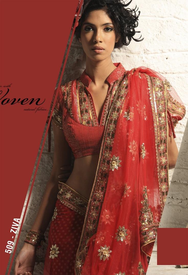 Mandarin Collar Saree blouse