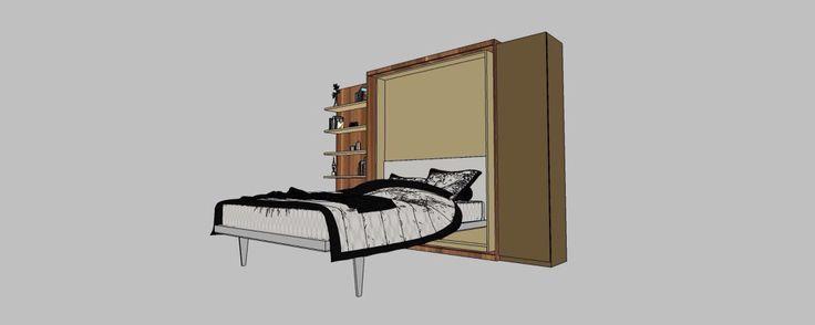 Amenajare garsoniera mobilier camera deschis vedere perspectiva2