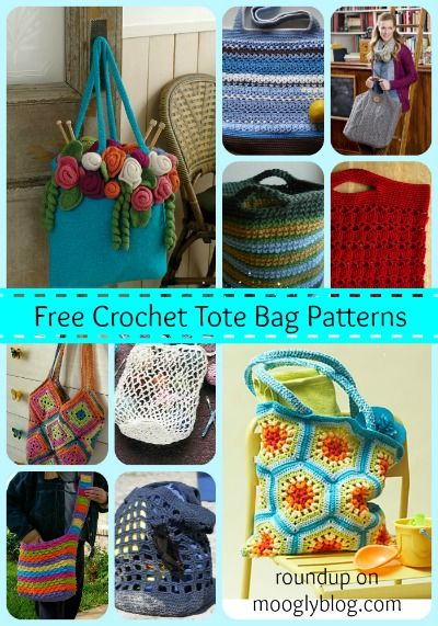 Great roundup of FREE Crochet Tote Bag Patterns!