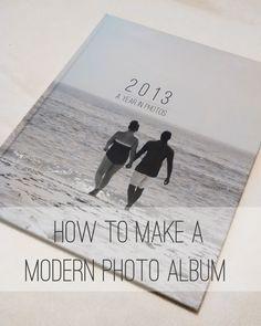 How To Make a Modern Photo Album #photography #blurb