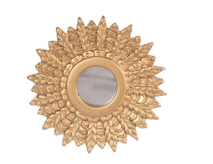 Dollhouse Miniature Gold Sunburst Mirror 1 :12 Scale by MiniFunTimes on Etsy