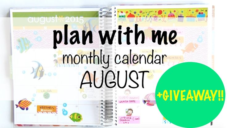 Plan with me - August Tropical Fish