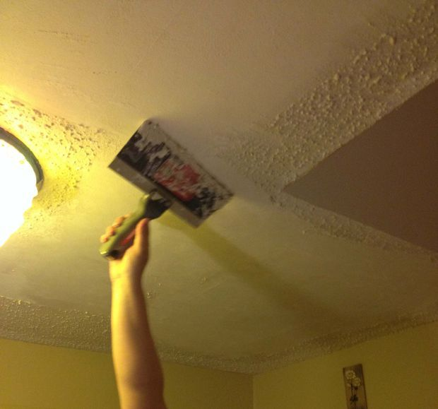 Best 25 remove popcorn ceiling ideas on pinterest for How to remove popcorn ceiling without water