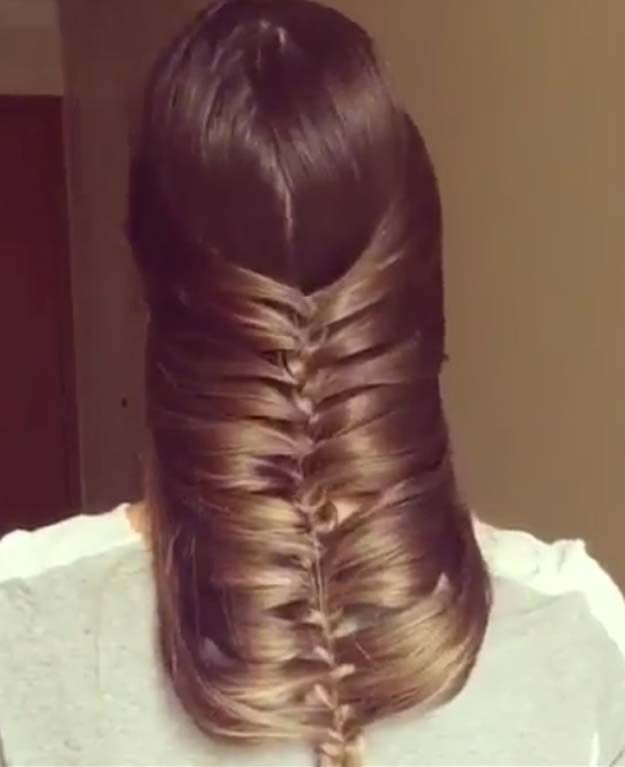 Easy Hairstyles For Work Short Hair : Best 20 reverse braid ideas on pinterest buns braided bun