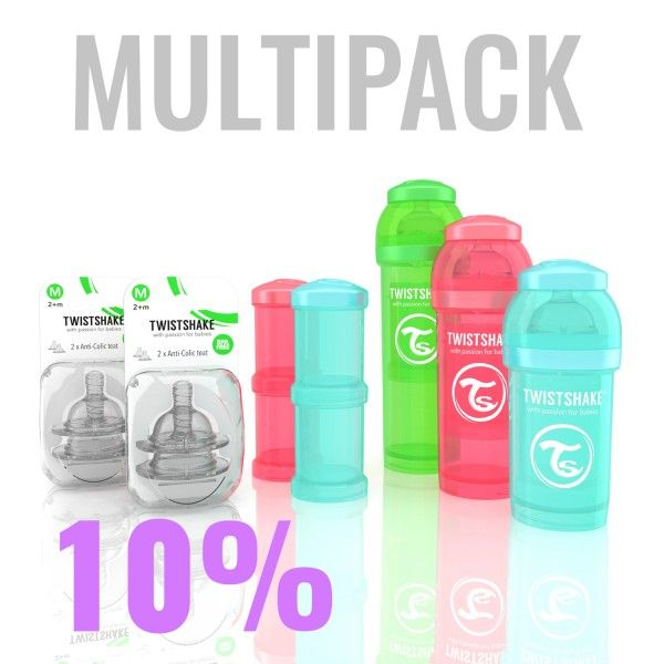 46.63€ Mixpack. Everything in one unit! 1x 180ml/6oz bottle, 1x 260ml/9oz bottle, 1x 330ml/11oz bottle 1x Powder box, 1x teat