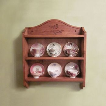 Vanessa Tea Cup Shelf Woodworking Plan by Eugenie Woodcraft