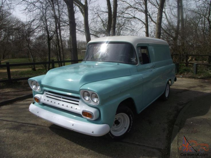 Cars And Trucks For Sale >> 1959 Chevy Apache Panel Van For Sale | 55 - 59 Chevrolet Task Force Trucks | Pinterest | Chevy ...