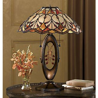 Best 679 stained glass lamps ideas on pinterest tiffany lamps golden stained glass table lamp from midnight velvet aloadofball Gallery