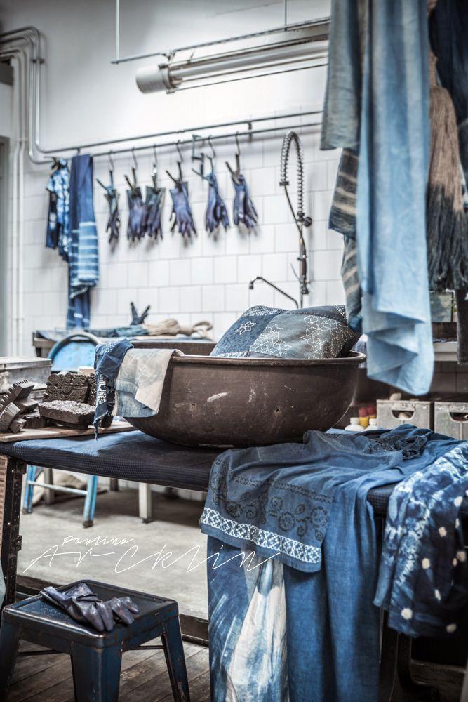 Dream indigo dyeing studio! © Paulina Arcklin   THE SECRET SOUK - BLUE BAZAAR IN AMSTERDAM AT HARVEST&CO OCT 22ND - NOV 7TH www.thesecretsouk.com: