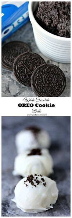 White Chocolate OREO White Chocolate OREO Cookie Balls from cravingsofalunati- This recipe is so festive and fun to make for the holiday season and beyond. OREO Cookies are mixed with cream cheese then rolled in white chocolate or white candy coating then topped with crushed OREO Cookies. Amazing! (Cravings of a Lunatic) #sponsored Oreo Recipe : http://ift.tt/1hGiZgA And @ItsNutella  http://ift.tt/2v8iUYW  White Chocolate OREO White Chocolate OREO Cookie Balls from...