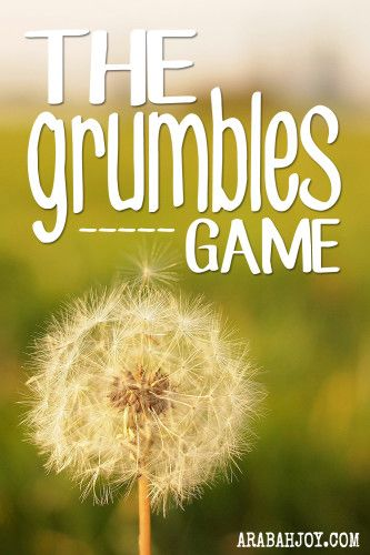 Does your family grumble at the dinner table? I came up with a game, and after only 3 evenings of playing this game, the grumbling has stopped! Read more for a fun way to stop the grumbling and complaining in your own house!