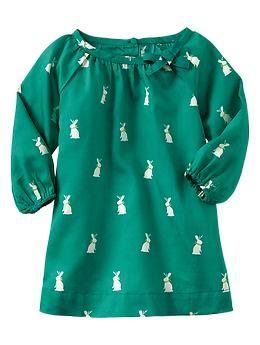 Bunny print dress | Gap  use Peek a boo pattern Liesel to get this look  http://www.peekaboopatternshop.com/product/liesel-dress-and-top