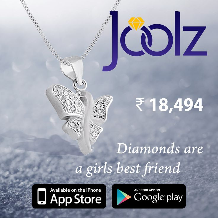 Stunning butterfly pendant, for any occasion. Available on Joolz  www.joolz.in or download the app for more!!