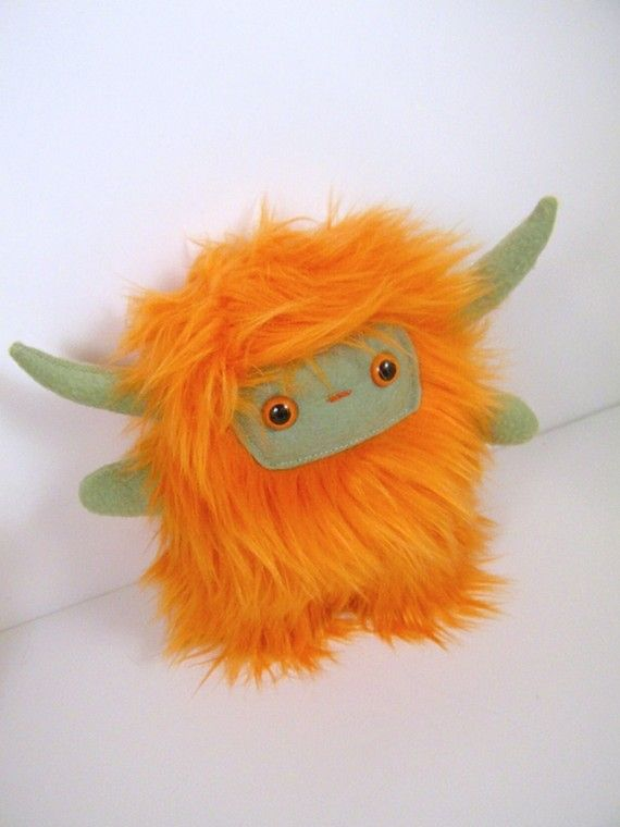 adorable orange monster: Stuffed Creatures, Cute Toys Kawaii, Poppen Maken, Lil Monsters, Plushies Softies, Stuffies Plushies, Stuffed Animal, And Dolls