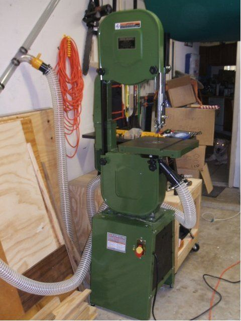 """A good overview of the popular mods to the Central Machinery (Harbor Freight) 14"""" bandsaw."""