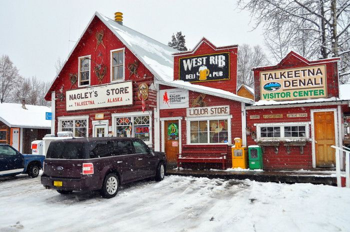 Here Are The Most Beautiful Charming Towns In Alaska.  This one is Talkeetna.