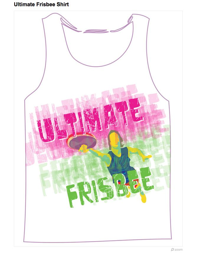 ultimate frisbee tank tops! New for the summer of 2013!