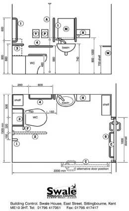 Image of schematic for an accessible toilet | Module 2 ...