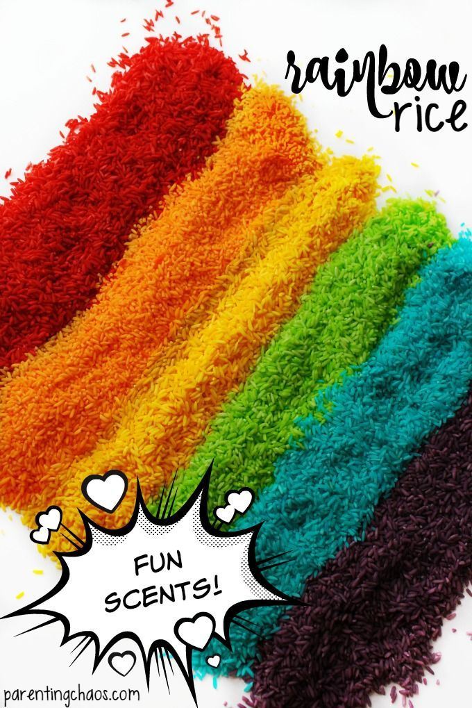 This Rainbow Rice doesn't use vinegar or rubbing alcohol -- it smells AMAZING!