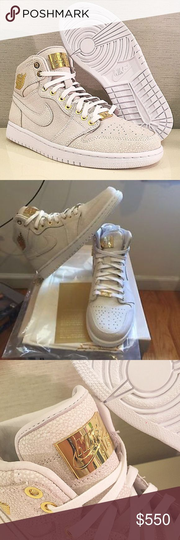 """Brooklyn Allstar Retro 1 High Pinnacle The Nike Air Jordan 1 Pinnacle have the feel of the original Air Jordan with a 24 karat gold upgrade in the detailing. Available in caviar white. they're the perfect mix of high tops and bling. """"Brooklyn Allstar"""" RARE Jordan Shoes Athletic Shoes"""