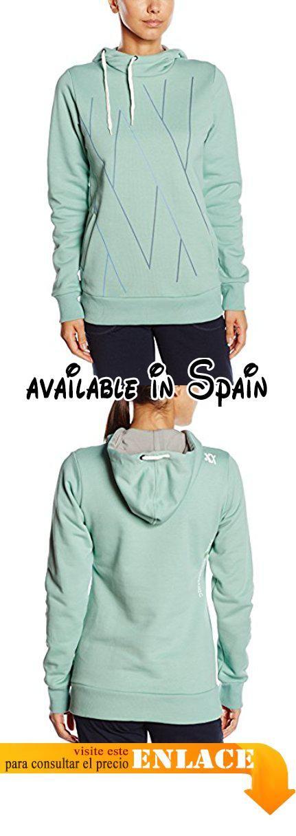 Völkl Performance Wear–Camiseta con capucha logo capucha, mujer, Kapuzenshirt Logo Hoody, verde menta, XL. De algodón bio. GOTS certificados #Deportes #SPORTING_GOODS
