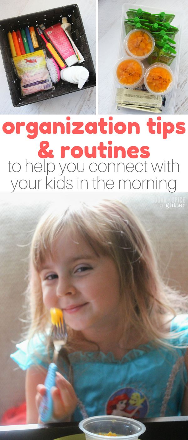 The key to easier mornings and connecting with your kids over breakfast is organization and routines; it is possible to turn things around and make mornings a calm, peaceful start to your day with the right routines and organization in place. Here's how this mom has changed her mornings with 6 kids