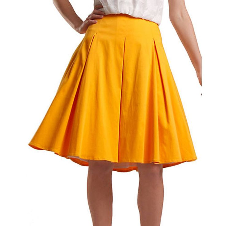 #Spring is all about bright fun colors and fun clothing! Like this gorgeous #HunterBell Maddy skirt in marigold! Shop here: http://ss1.us/a/kKMfT2OG