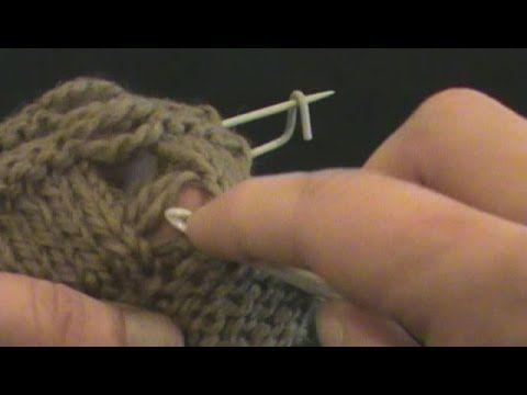 [Tricot] Rattraper une maille sur jersey envers et point mousse - YouTube