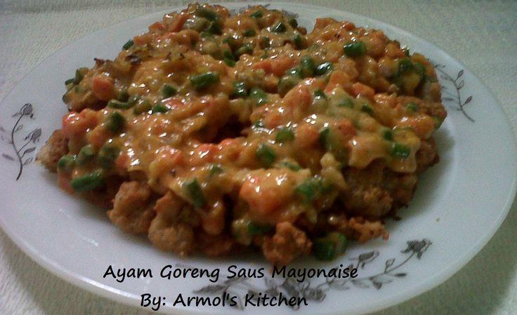 Ayam Goreng Saus Mayonaise  yuk simak resepnya http://aneka-resep-masakan-online.blogspot.co.id/2016/07/resep-ayam-goreng-saus-mayonaise.html