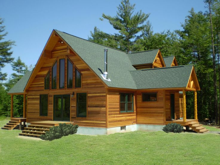 Outdoor  Fascinating White Wall Paint With Green Accent Colour Feat Wooden  Window Frame Also Awesome Sloping Roof House 26 best Lake Home images on Pinterest   Modular homes  Log cabins  . Log Home Designs And Prices. Home Design Ideas