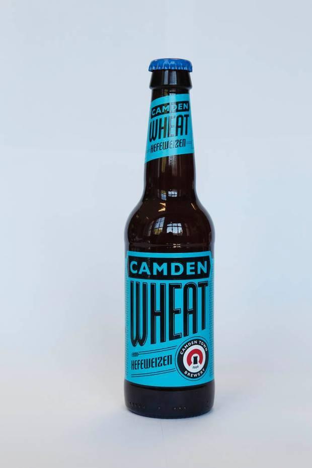 Camden Wheat ... £2.40 (5% ABV)  Camden Brewery opened in 2010. Camden Wheat is unashamedly inspired by classic unfiltered Weiss beers and is one of the best in the range; cloudy and citrusy.