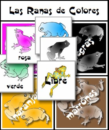 Las Ranas De Colores FREE Printable Game Easy To Download At FransFreebies